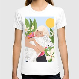 All You Need Is Love And A Dog #illustration #pets T-shirt