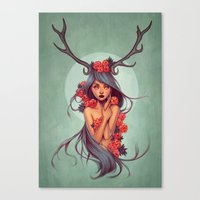 into the wild Canvas Prints featuring Wild by Joifish