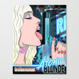 XSuperModels - Infamous AtomicBlondePop Canvas Print