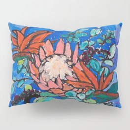 Lions and Tigers Vase with Protea Bouquet Pillow Sham