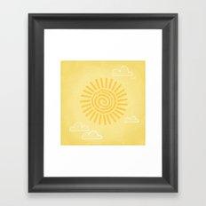 Primitive Sun (Warm Variant) Framed Art Print
