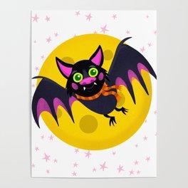 Halloween Bat Poster