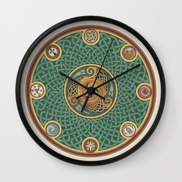 Celtic Knotwork Shield Wall Clock