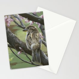 Sparrows of Spring 2 Stationery Cards