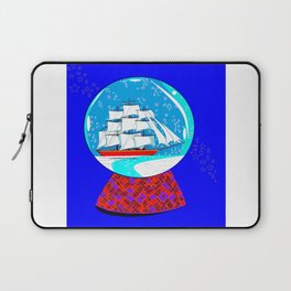 A Nautical Snow Globe with a Clipper Ship Laptop Sleeve