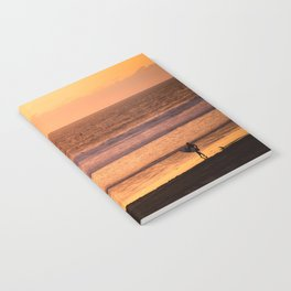 Surfer watching sunset in Southern California Notebook