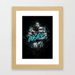 Arnold Schwarzenegger Motivational Art Framed Art Print