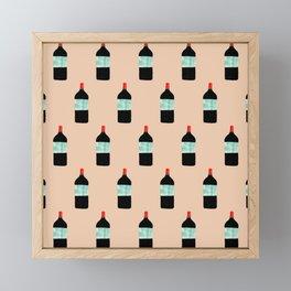 Kosher Wine Pattern For Hanukkah's Festival Of Lights Framed Mini Art Print