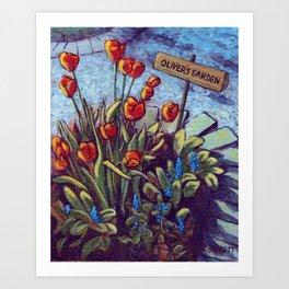 Oliver's Garden Art Print