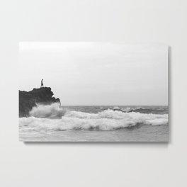 Defying the ocean Metal Print