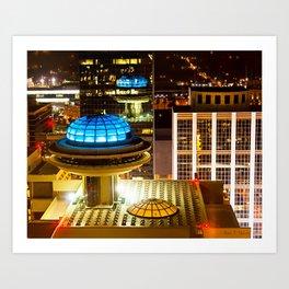 Yesterday's Future - Classic Atlanta Skyline At Night Art Print