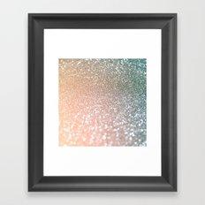 Rosequartz glitter - Pink luxury glitter sparkling design Framed Art Print