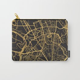 LISBON PORTUGAL GOLD ON BLACK CITY MAP Carry-All Pouch