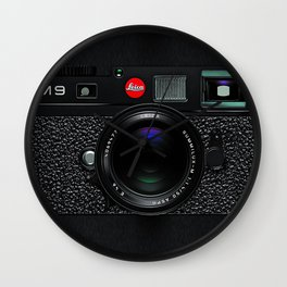 Leica Camera M9 Black Wall Clock