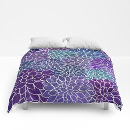 Floral Abstract 22 Comforters