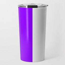 White and Violet Vertical Halves Travel Mug