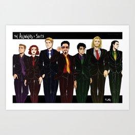 Suitvengers Art Print
