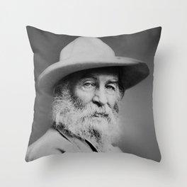 Walt Whitman Portrait Throw Pillow