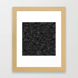 Black and White Fire Water Framed Art Print