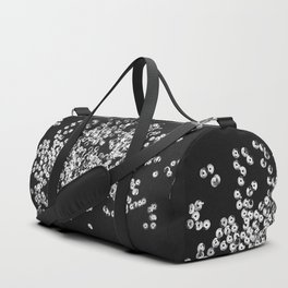 Silver glittering sequins Duffle Bag