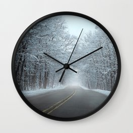 Winter Scene Wall Clock
