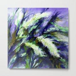 Pampas Grass 1a by Kathy Morton Stanion Metal Print