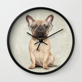 Mr French Bulldog Wall Clock