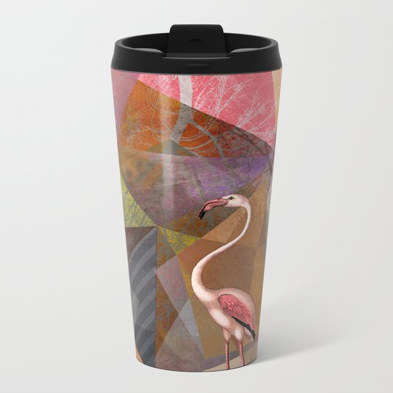 FLAMINGOS P23-C Metal Travel Mug