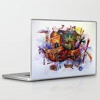 france Laptop & iPad Skins featuring France by oxana zaika