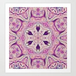 Flower Of Life Mandala (Passion) Art Print