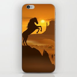 Freedom for the black stallion iPhone Skin