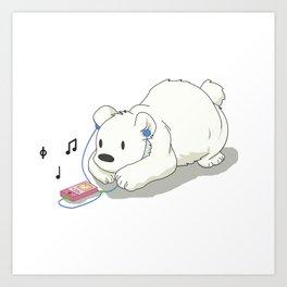 Polar Beats Art Print