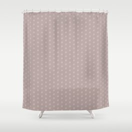 White flowers on pink background Shower Curtain