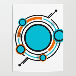 Minimal hipster pattern Poster