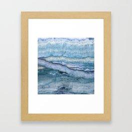 Mystic Stone Aqua Blue Framed Art Print