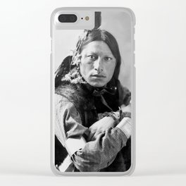 Joseph Two Bulls, Dakota Sioux, by Heyn & Matzen Photo, 1900 Clear iPhone Case