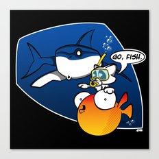 GO, FISH! Canvas Print