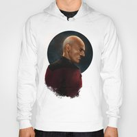 picard Hoodies featuring Picard by ErstwhileSky