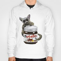 nutella Hoodies featuring Sweet aim // galago and nutella by Anna Shell