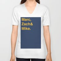 memphis V-neck T-shirts featuring Memphis Grizzlies by Will Wild