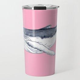 Cute Baby humpback whale pink for girls Travel Mug