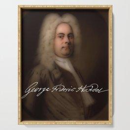 George Frideric (or Frederick) Handel (born Georg Friedrich Händel) by Balthasar Denner (c.1726–172 Serving Tray