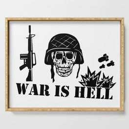 War Is Hell: Stop The War Serving Tray