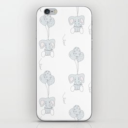 Elephants with Balloons iPhone Skin