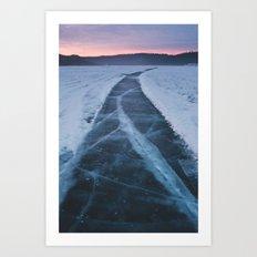 Bearspaw Reservoir Art Print