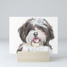 Shih Tzu Puppy Artwork Design Mini Art Print