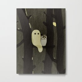 Little Ghost & Owl Metal Print