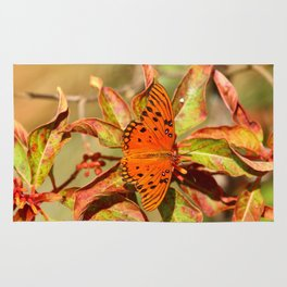 Butterfly In The Glades - Gulf Fritillary Rug