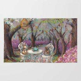 Vintage Woodland Tea Party Rug