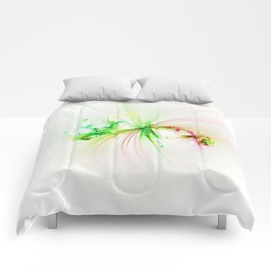 Plastic splatter Comforters